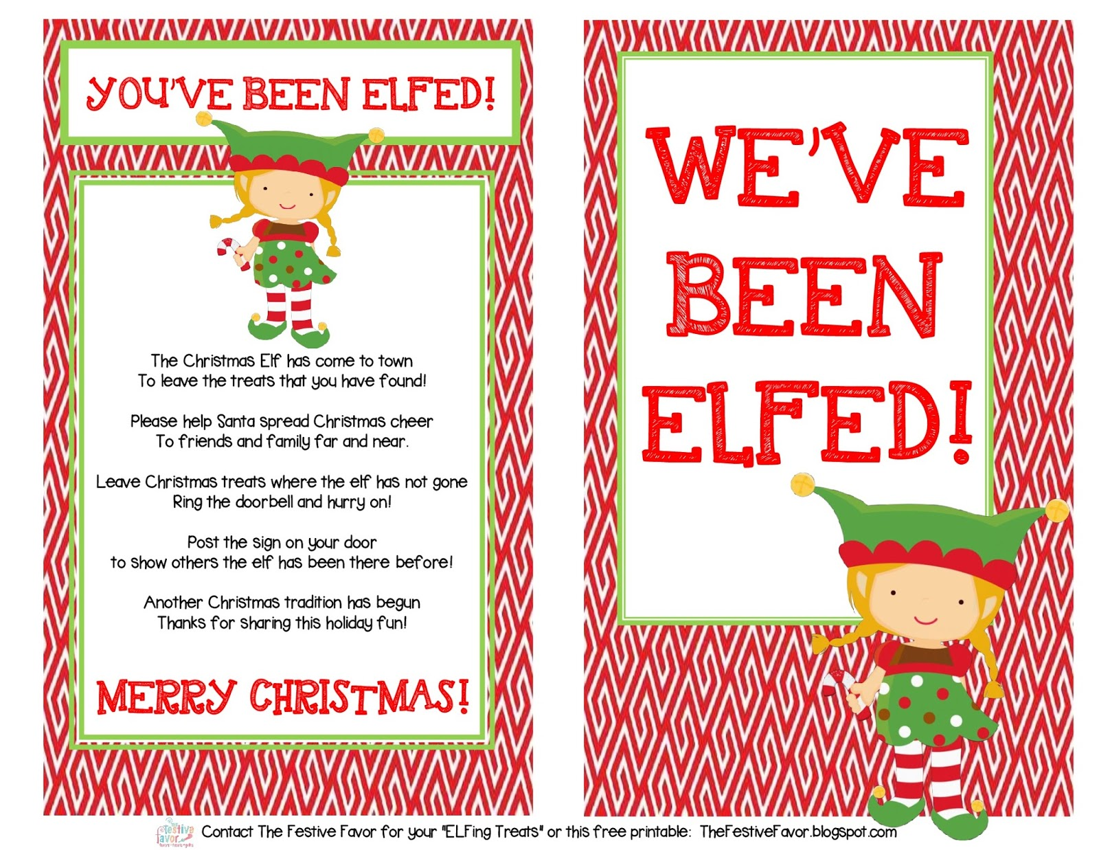 image about You Ve Been Elfed Printable identified as The Festive Want: Youve Been Elfed! Free of charge Printable