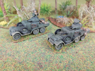 Lanchester armoured cars patrol the jungle of Malaya