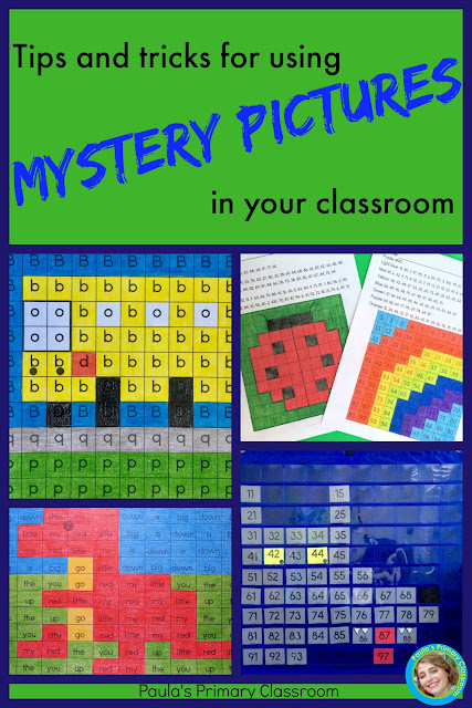 Tips and Tricks for using mystery pictures in your classroom (and 3 freebies!)