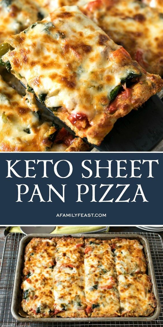 Best and Easy  Keto Sheet Pan Pizza