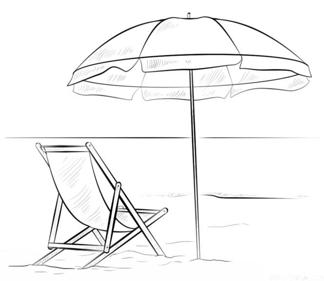 Contoh Sketsagambar Pemandangan Pantai Belajar Menggambar