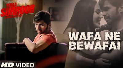 Wafa ne bewafai song hindi lyrics