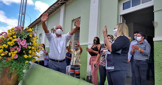 Prefeito de Bom Jardim Pernambuco João Lira na Cerimônia do aniversário da cidade