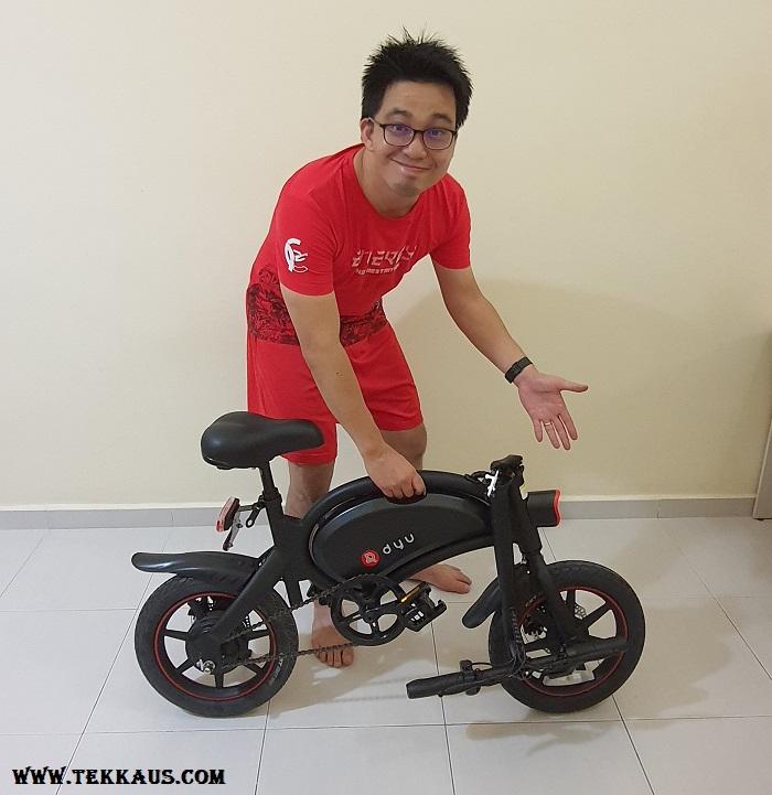 How to fold DYU D3+ Electric Bike