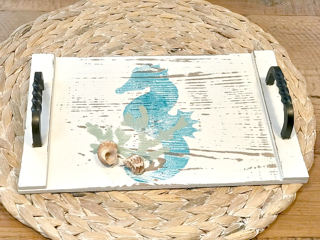 stenciled nautical snack trays