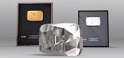 انواع الدروع الثمينة التي تقدمها شركة اليوتيوب كجوئز تحفزية لأصحاب القنوت الكبيرة المتميزة