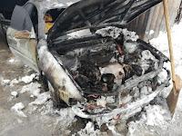 (ФОТО) пожар легковой автомобиль «Toyota Carina».