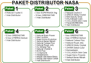 Paket Pendaftaran Distributor PT. NASA