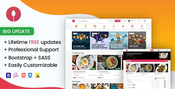 Best Online Food Ordering Website Template