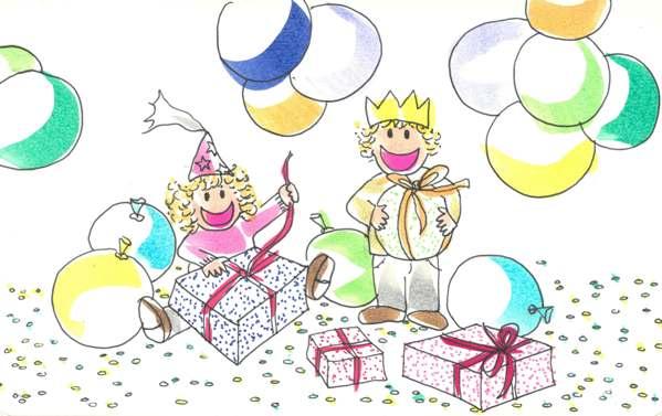 Celebración de un cumpleaños infantil