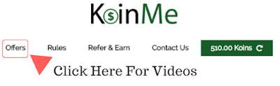 KoinMe Offer Tab