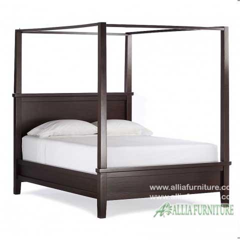 tempat tidur kanopi minimalis choco