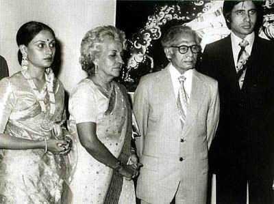 jaya-bhaduri-amitabh-bachchan-their-wedding-day-shri-harivansh-rai-bachchan-teji-bachcha