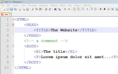 notepad++ code editor