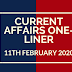 Current Affairs One-Liner: 11th February 2020