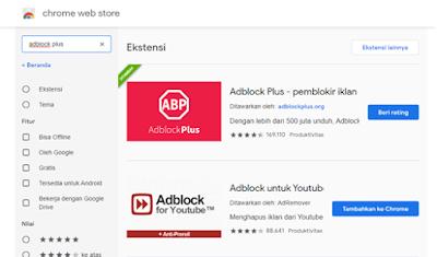 Adblock terbaik di Chrome