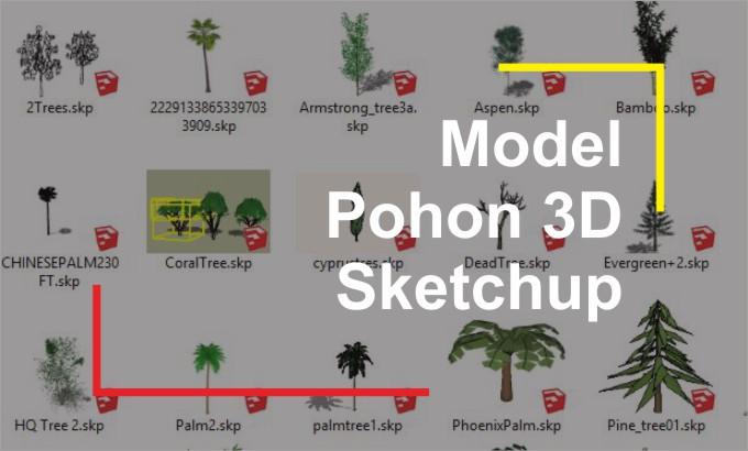 Download Pohon 3D File Sketchup