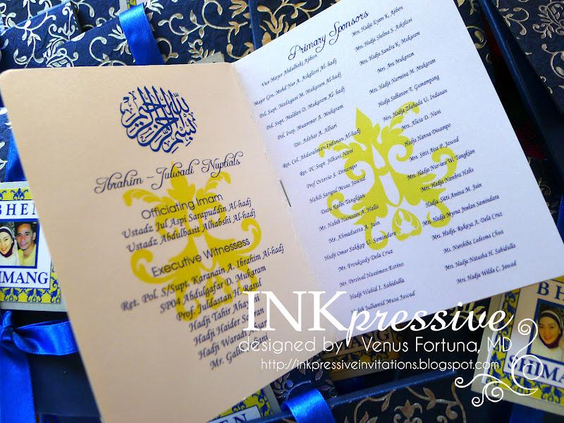 Blue And Yellow Wedding Invitations: Passport Wedding Invites Blue And Yellow