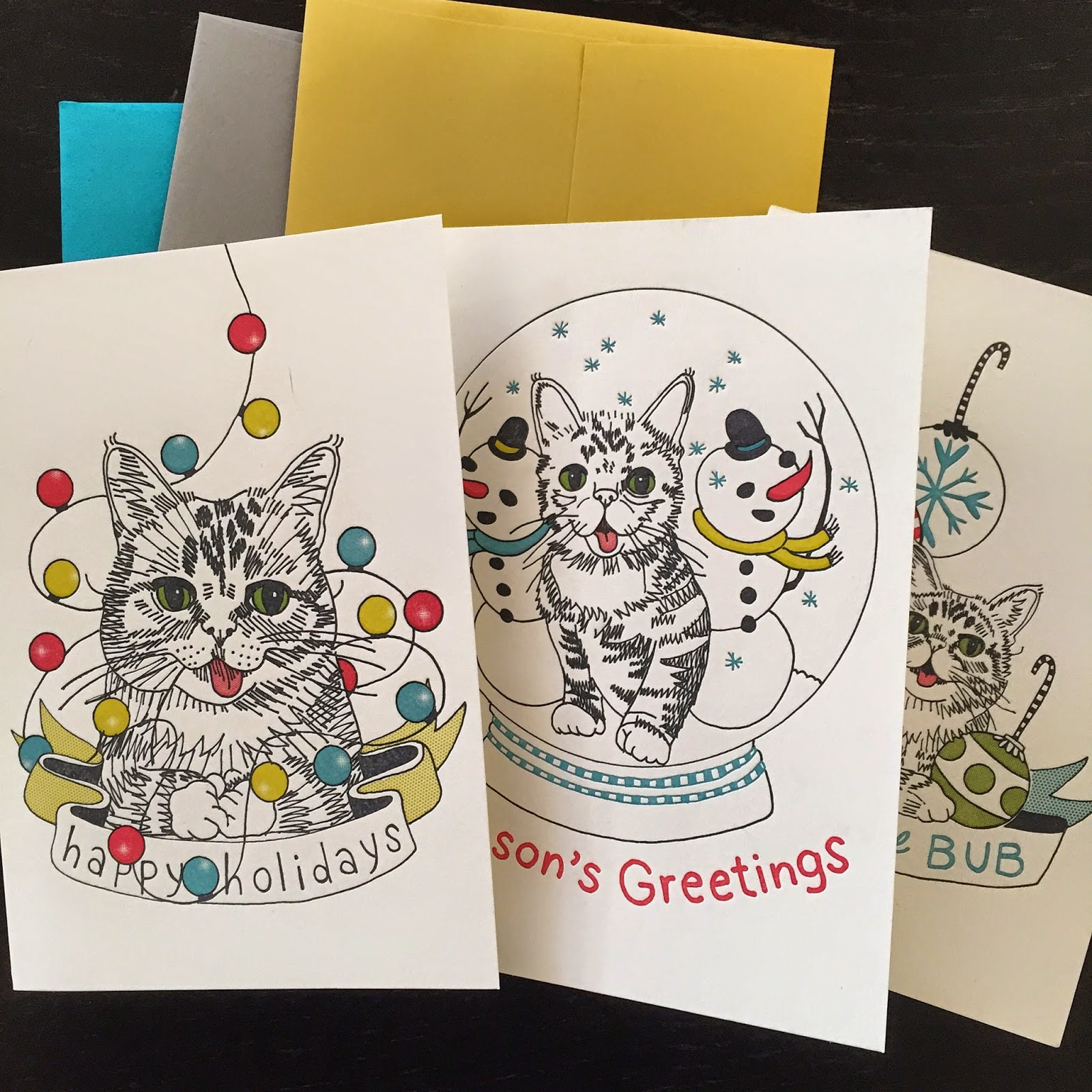 Jennifer davis art lil bub letterpress greeting cards my friend jenni undis helped me design the cards and they were printed at lunalux her letterpress shop in minneapolis m4hsunfo