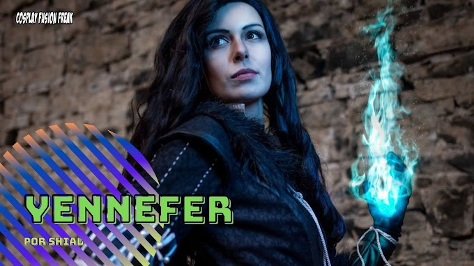 Shial con su cosplay de Yennefer