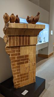 City pigeons wood sculpture