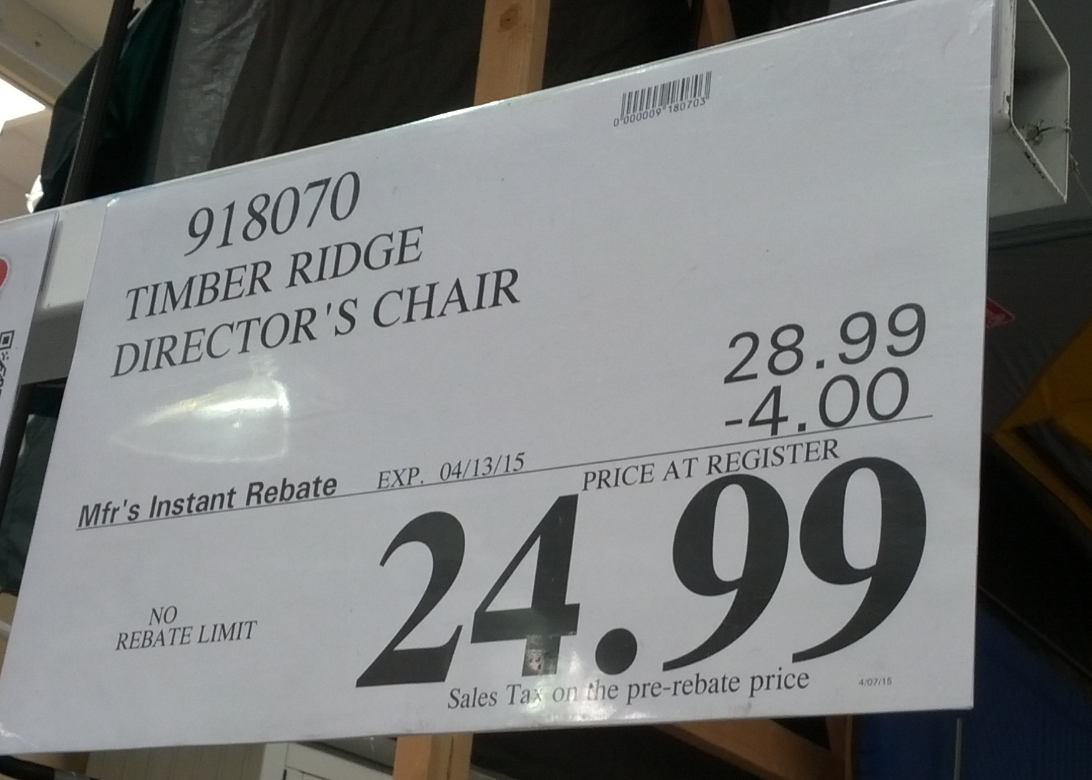camping chairs with side table set of 4 timber ridge director's chair | costco weekender