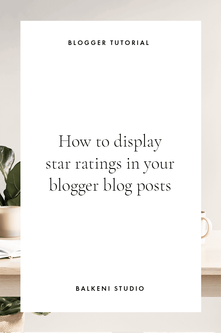 star rating tutorial for blogger blog