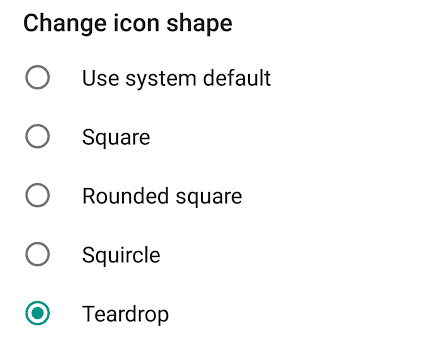 Android O Pixel Launcher get a new teardrop icon ~ Android