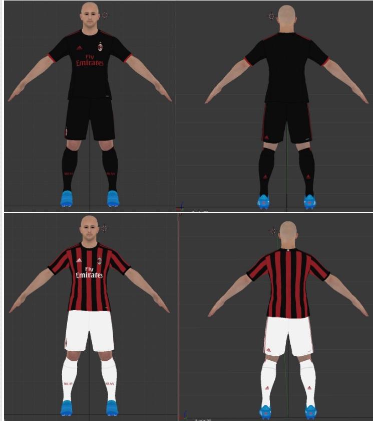 PES 2017 AC Milan Kits 17-18 by jkll