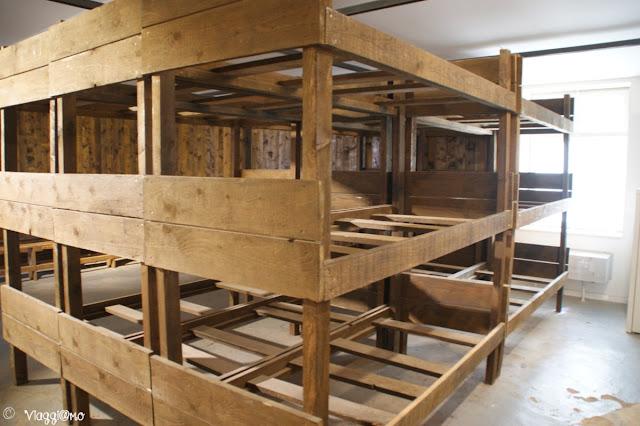 Una delle camerate del Campo di Concentramento di Natzweiler-Struthof