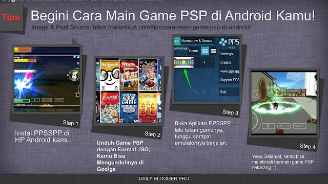 Cara main game PSP di HP Android