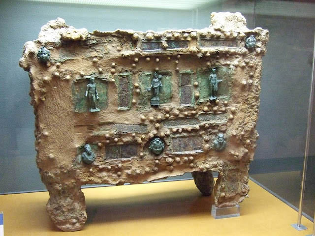 Remains of wooden safe excavated from burned out Roman villa in Spain