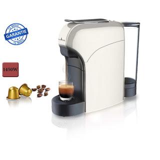 Revolution Machine à café pour capsule nespresso - blanc cassé