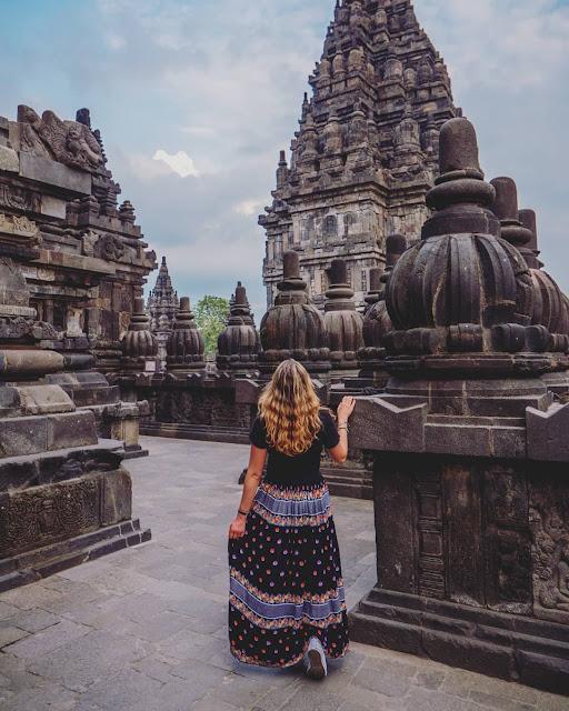 prambanan temple is tourist destination in yogyakarta