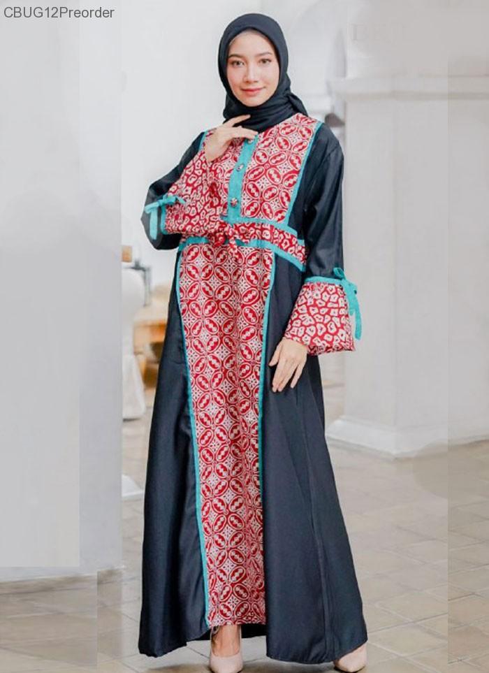 Koleksi Gamis Batik Dailywear Terbaru Motif Batik Pekalongan
