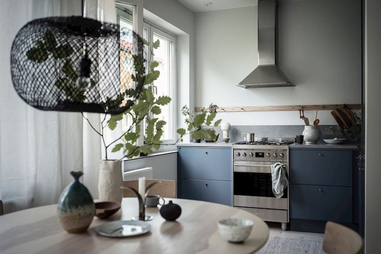 Take Inspiration From A Lovely White, Blue and Wood Swedish Home