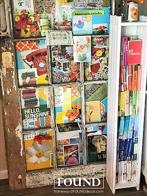 art, art class, color, color palettes, creative spaces, creativity, decorating, DIY, diy decorating, fast cheap and easy, gift wrapping, inspiration, junk makeover, paper, paper crafts, re-purposing, spring, vintage, up-cycling, old doors, vintage doors, bulletin boards, inspiration boards