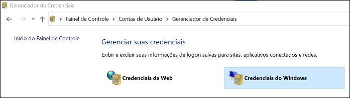 Painel de controle - contas de usuário
