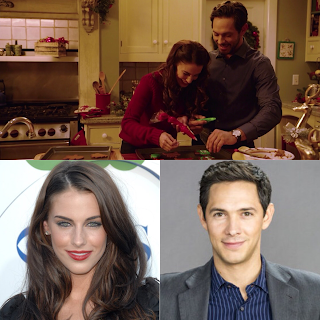 Christmas At Pemberley Manor Cast.Jessica Lowndes Michael Rady Are Elizabeth William Darcy
