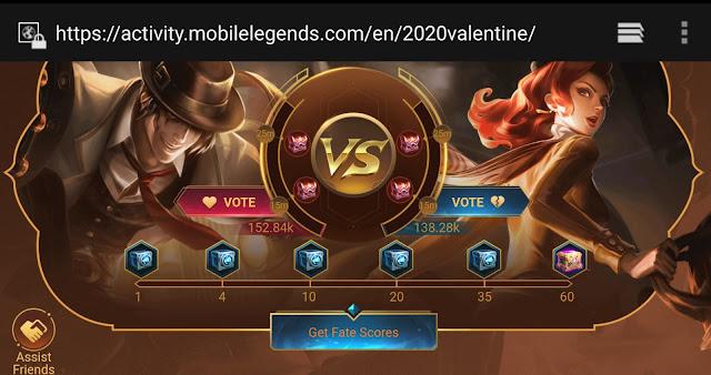 Cara Mendapatkan Skin Epic Mobile Legends Event Valentine Februari 2020