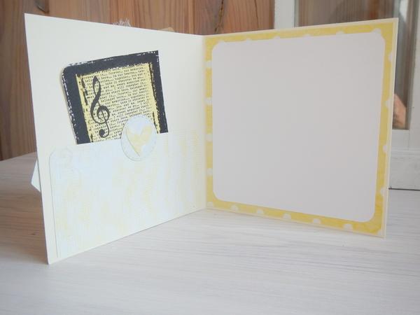 wnętrze kartki śłubnej, kieszonka