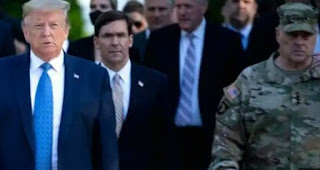US military officer Mark Milley officer sorry for escorting Donald Trump walk to church near the white House