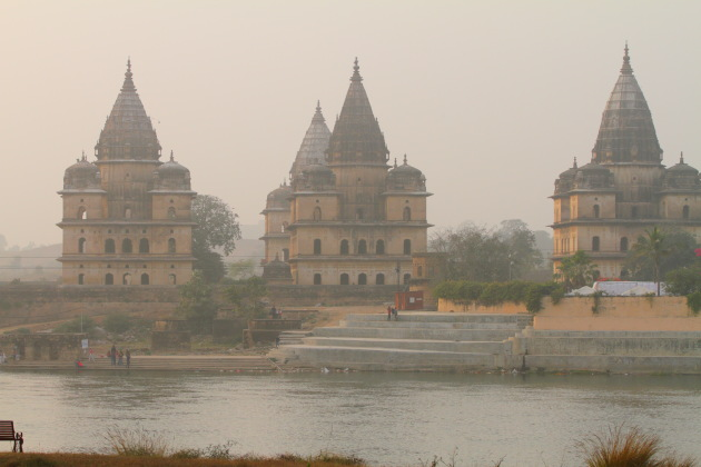 Orchha Chhatris by the Betwa river, Madhya Pradesh
