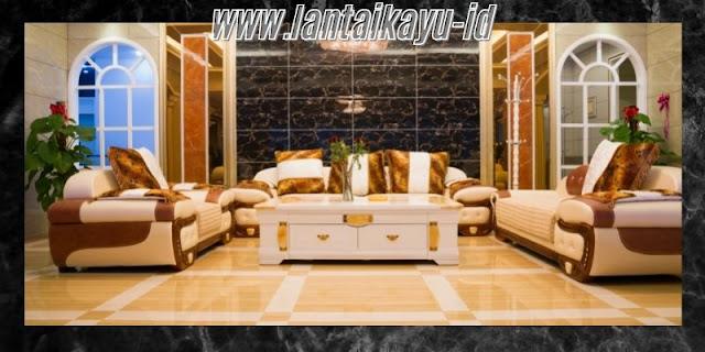 Dekorasi Ruang Tamu  Minimalis yang Mewah - gunakan lantai granit