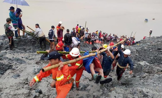 Jade mine collapses  killed at least 113 in northern Myanmar