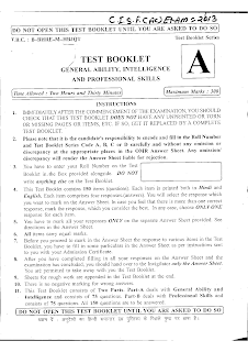 CISF previous year paper  2013 with answer pdf