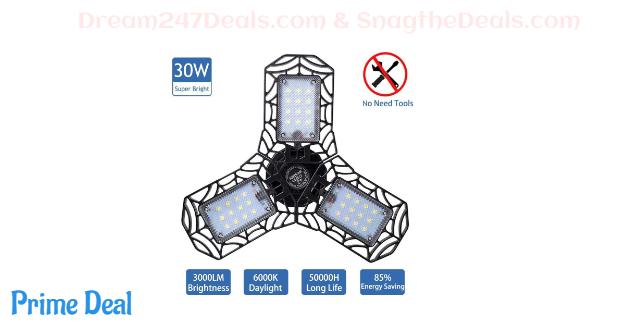 50% off LED Garage Lights--30W