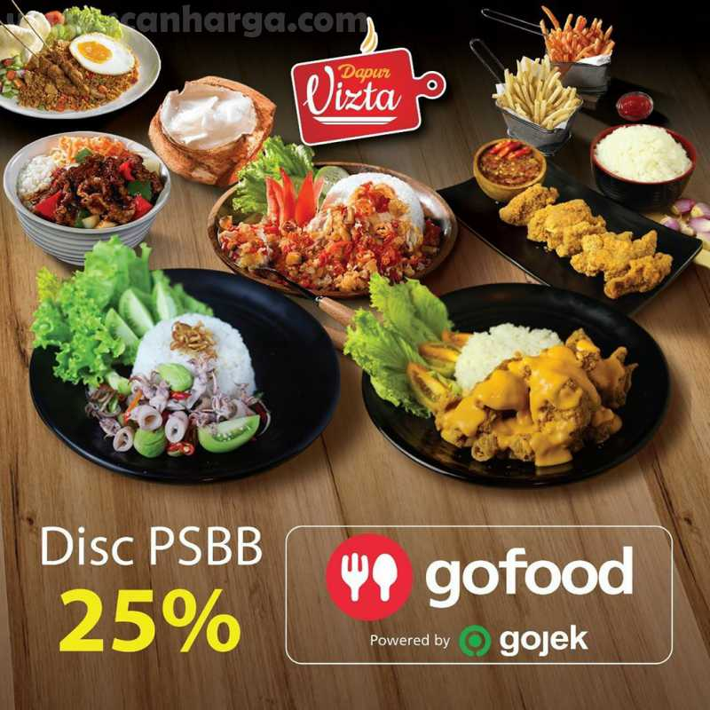 Promo Dapur Vista by Inul Diskon PSBB 25% Khusus Pesan Via Gofood 1