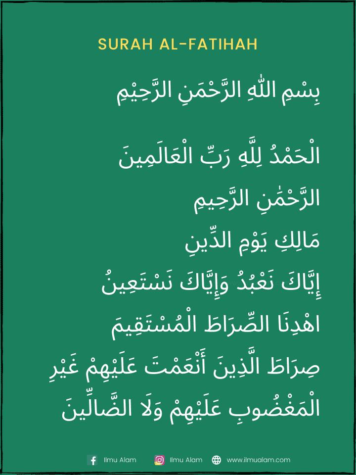 surah al fatihah jawi