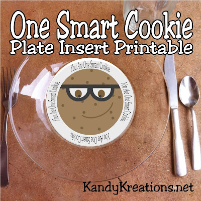 Celebrate your kids being One Smart Cookies with this fun Back to School cookie theme.  These plate inserts are a fun and versatile party decor item to help you create the perfect party table for your little students.